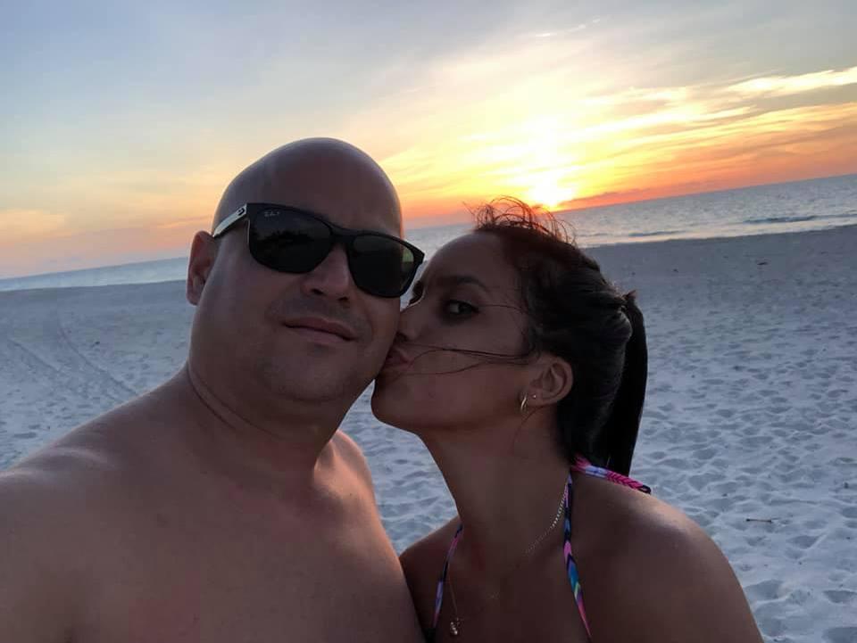 Andy Vázquez y su Jennifer Suárez, su futura esposa