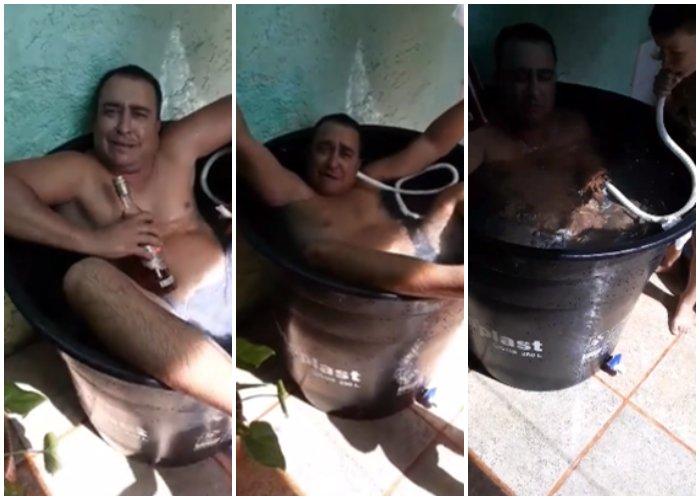"""Hombre se inventa el """"Jacuzzi a lo cubano"""""""
