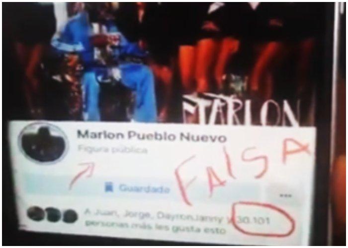 Marlon el de Pueblo Nuevo denuncia la presencia de cuentas falsas a su nombre