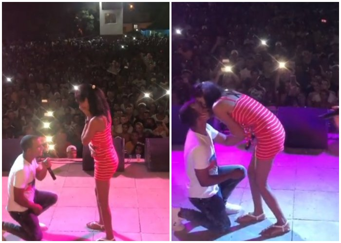 Cubano propone matrimonio a su novia en medio de un concierto de Yomil y El Dany