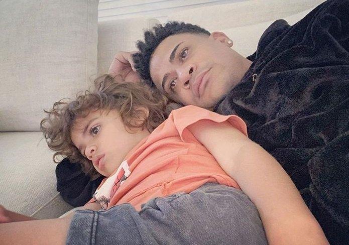 Randy Malcom, integrante de Gente de Zona, junto a su hijo Malcom Jr.