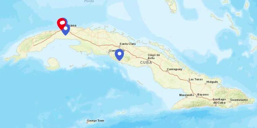 Este mapa te muestra la situación actualizada del coronavirus en Cuba