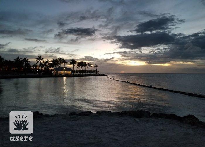 Anochecer en playas de la Florida