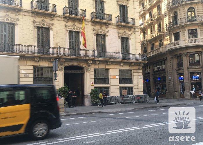 Estación Nacional de la Policía en Barcelona, España