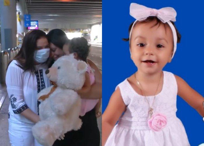 Lisbet Sánchez y la pequeña Emily Castro