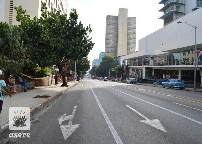 Calle 23, en el Vedado, La Habana