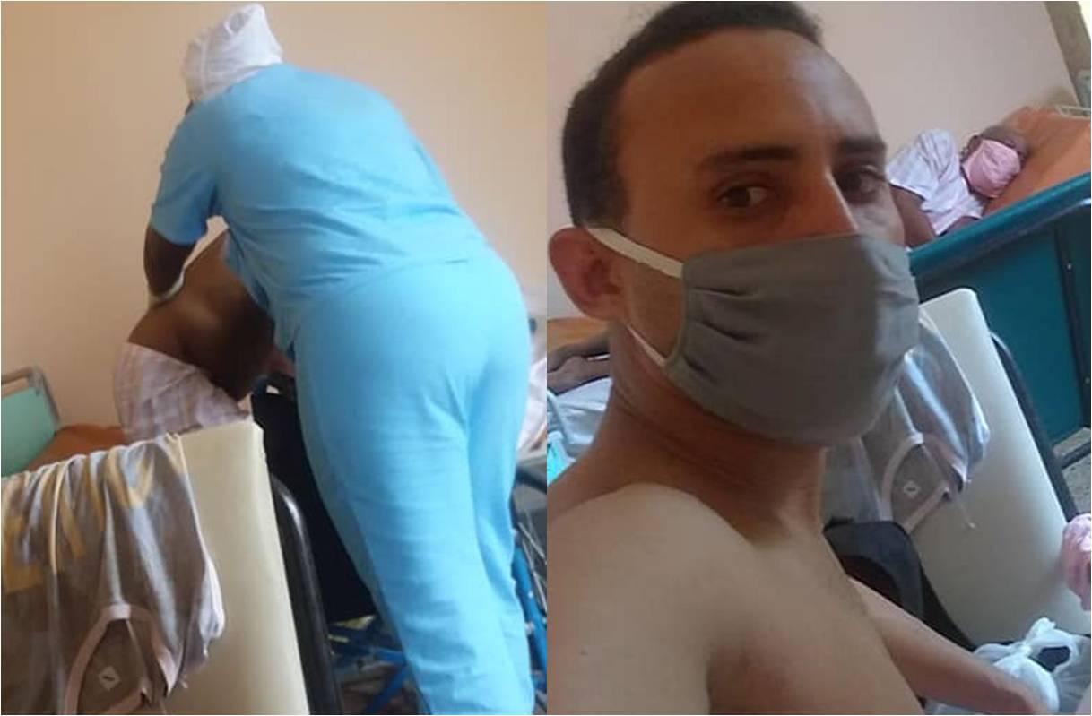 """""""Ni agua, ni ropa, ni sábanas"""": Así tratan a los sospechosos por coronavirus en hospitales de Cuba (FACEBOOK LUIS CARLOS MANSO)"""