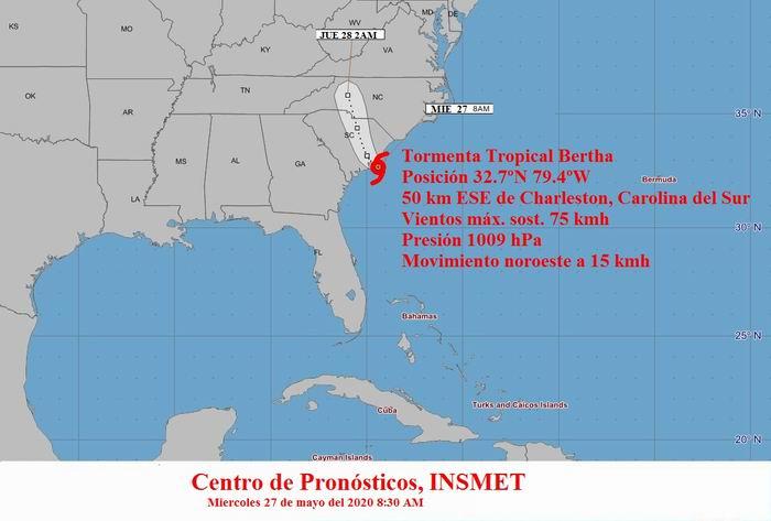 Carolina del Sur se enfrenta a la tormenta tropical Bertha