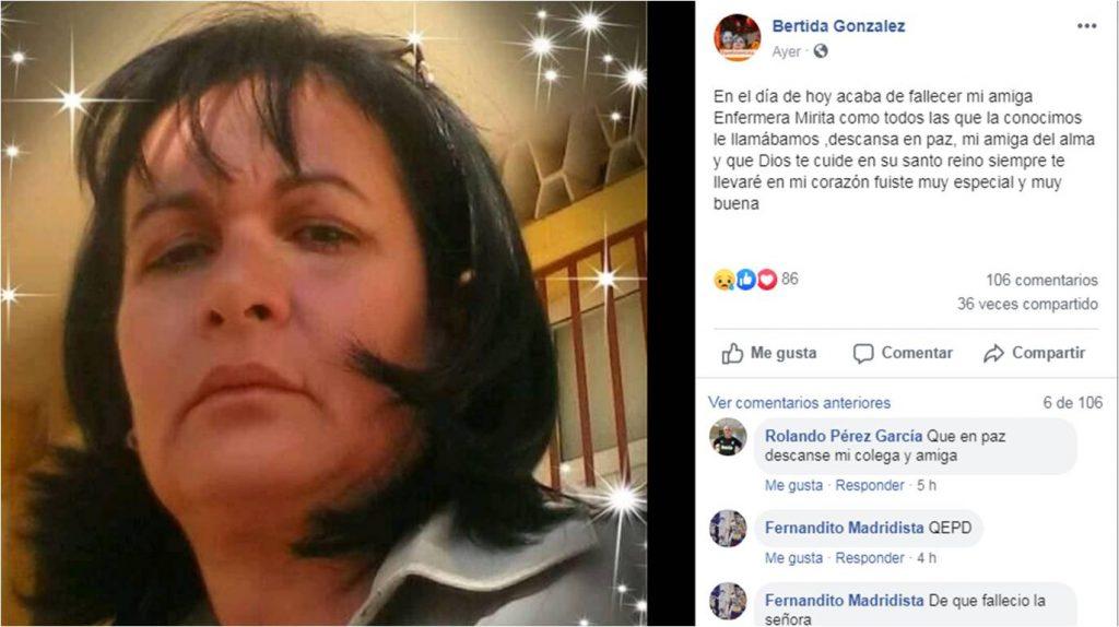 Muere por causas desconocidas una enfermera en Cuba