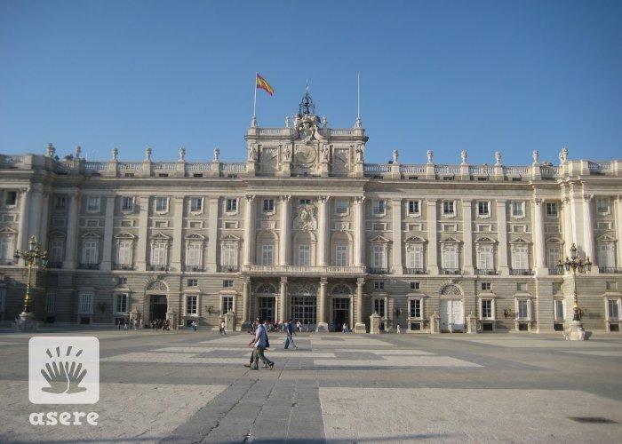 Palacio de Real, en Madrid, España