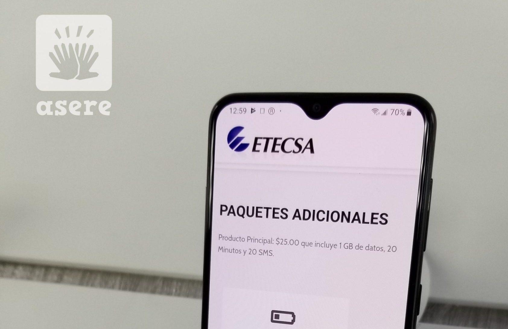 """ETECSA suspende la compra de datos móviles """"por trabajos requeridos en las plataformas"""""""