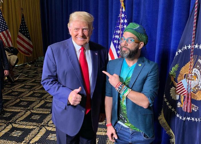 Donald Trump y Alex Otaola se encuentran cara a cara en Miami