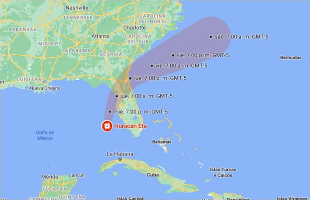 Florida podría ser azotada por segunda vez con la llegada de ETA como huracán